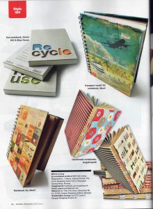 Handmade notebook by Evelin aka AngelicQuirk featured in Going Places, Malaysia Airline July 2011